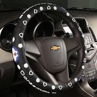 Wholesale Explosion Models Hello KittyCat Love Bell Car Steering Wheel Sets Of Lovely Cartoon Latex Car Set Suitable For Car SUV Van