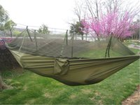 Wholesale The new army green nets parachute cloth camping hammock
