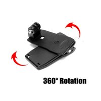 Wholesale 360 Degree Rotatable Travel Backpack Rec Mounts Clip Quick Release Clamp Cap Clip Hat Mount for GoPro HD Hero