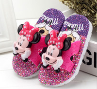 Wholesale 2016 New Children Summer Children s slippers Kids Girls Boys Cartoon Anti Slip Home Child Slippers Shoes age Years D308