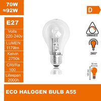Wholesale ECO halogen lamp A55 V W E27 Halogen light halogen bulb