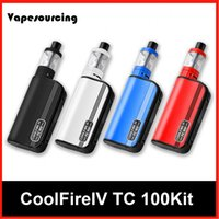 Cheap Authentic Coolfire IV TC 100 starter Kit With Cool Fire 4 TC100 3300mah TC 100w Mod Aethon Chipset ISub V Tank DHL Ship