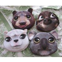alpaca handbags - DUDINI D Print Animal Alpaca Makeup Bag Koala Zipper Coin Purse Wallet Money Pouch Penguin Small Handbag