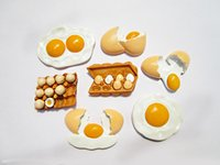 Wholesale New design ps set Super cute eggs foods Fridge magnet sticker christmas gift home decor