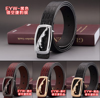 Wholesale 2016 hot sell Crocodile Stripe Luxury fashion men belts High quality brand designer genuine leather belt for men women