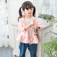 animal rabbit - Cartoon coat Children s kids girls small rabbit embroidery hoodie tops pink grey purple clothes autumn new arrival