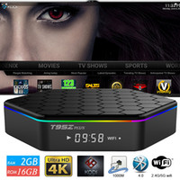 Wholesale Android T95Z Plus TV Box Built in Amlogic S912 Octa Core G G Android Bluetooth Dual Wifi Support KODI K Smart Box Free Sports Movies