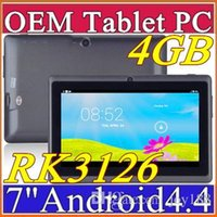 Wholesale DHL inch GB MB Capacitive RK3126 Quad Core Android dual camera Tablet PC WiFi EPAD Youtube Facebook H PB