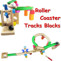 baby instructions - Best Gift Baby Toys Roller Coaster Truck Blocks Education Children Toys Wooden Blocks Montessori Gift Attached Instruction