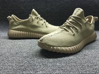 Wholesale 2015 Oxford Tan Authentic Original Kanye West Boost Sneakers Men s Sports Running Shoes Moon Rock Turtle dove Pirate Black Sneaker