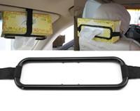 Wholesale New Universal Auto Car Sun Visor Paper Tissue Box Holder Paper Napkin Clip Seat Back Accessories