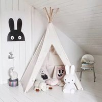 Wholesale pure white kids play tent indian teepee children playhouse children play room