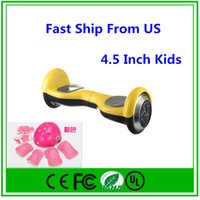 balance boards for children - Hot Self Balancing Kids Scooter Two Wheel Electric Drifting Board Bicycle Smart Balance For Children Carry Full set of protective gears