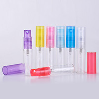 Wholesale Pieces ML Mini Cute Transparent Glass Refillable Perfume Bottle With Sprayer Empty Cosmetic Parfum Vial For travel