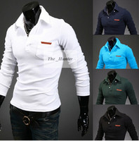 Wholesale Men Polo Shirt Mens Fawn Embroidery Luxury Tops Casual Slim Fit Stylish T Shirt Long Sleeve Polos Male Tees Polo Shirts Men Clothing