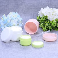 bamboo cosmetic containers - 20g PP Colorful Plastic Cream jar ml cosmetic jar Small Cosmetic Powder container for cosmetics packaging