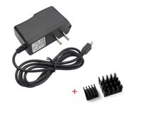 Wholesale Raspberry Pi Professional Power Supply Adapter Charger V A with Two Aluminum heatsinks enough power supply