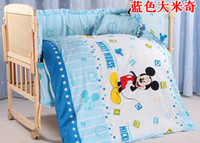 bedding for baby - Promotion Mickey Mouse Baby bedding cribs for babies cot bumper kit bed around piece set