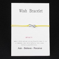 american greeting - hot sale Friends String Bracelet love card Wish Card with Hearts Infinity charm bracelet birthday card Valentine s Day greeting cards gift