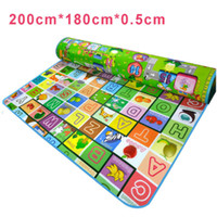 baby puzzle box - Baby Double Faced Playmats Baby Animal Farm Carpet Infant Developing letter Rug Mat Baby Puzzle Crawling Mat HT3137