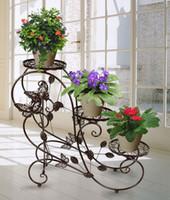 Wholesale 3 tier Decorative Home Decor Metal Plant Stand Garden Yard Florist Flower Shop
