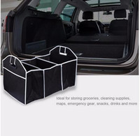 Wholesale Car Trunk Organizer Toys stuff Food bag Box Stowing Tidying Automobile Stowing Tidying Interior Accessories Folding Collapsible