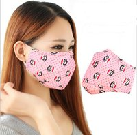 Wholesale pm2 mask Cartoon respirators Winter warm anti fog haze mask activated carbon dust mask cotton masks