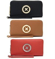 Wholesale Long Purse Zipper - Free MIMCO female classical and fashion leather hardware RRP229MIMCO black supernatural MIMCO bag zipper golden postal technology purse