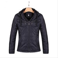Wholesale Hot sale Winter Leather Jackets Mens Black Leather Jacket Coats Outdoor Faux Leather Jackets Suit Collar Male Casual Overcoat