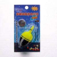 Flotteurs électroniques France-Flotteurs de pêche électroniques de la batterie 6.5cm / 25g 2pcs / set lumière flotteurs de pêche bobber nuit lumière LED flotter lueur pour la pêche lumineuse