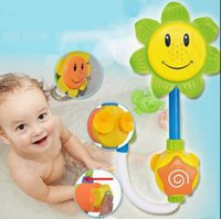 Wholesale LJJK346 Lovely Sunflower Spray Flow N Fill Shower Head Baby Kids Bath Fun Play Bathing Toys Bath Water Toy