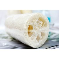 Wholesale 2015 fashion new natural loofah sponge bath shower scrubber