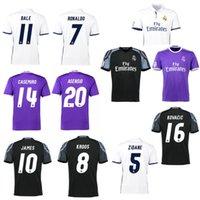 Wholesale 2016 Reals Madrids soccer jerseys jerseys Ronaldo jersey BENZEMA MODRIC BALE LUCAS V KROOS ISCO football shirts Camisa JAMES