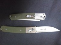 army knife set - GANZO G7361 GR Pocket EDC Folding Knife c Blade Green G10 Handle w Pouch without G7361