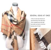 big cashmere scarf - Newest Winter Scarf Women Plaid Scarf Shawls Brand Scarves For Women Big Squares Cashmere Scarf cm
