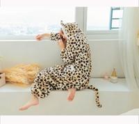 adult leopard onesie - High Quality Flannel Cheetah Cosplay Anime Easter Leopard Grain Onesie Halloween Costumes Adult Unisex Pajamas Jumpsuit Romper