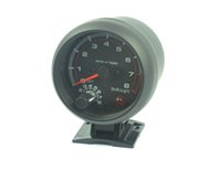 Wholesale 3 inch Car Black shell White blacklight Tachometer gauge RPM car rpm For cylinder warning function