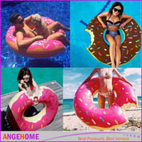 Wholesale 120cm cm Adult Child Inflatable Swim Ring Donut Shape Swimming Pool Water Float Raft Floating Rings Inflatable Swiming Laps Buoy