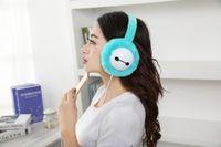 achat en gros de stéréo en peluche-Hot chaude oreillers en peluche d'hiver casque écouteurs oreille musique oreille 3.5mm filaire stéréo casque d'écoute de sport protecteur plus chaud
