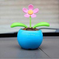 Wholesale Solar automatic swing sunflowers shook his head apple flower doll car accessories car ornaments car