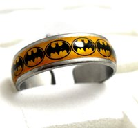 batman wedding rings - 25pcs batman Stainless Steel Rings Mixed Fashion Rings Jewelry