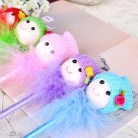 arts plastic dolls - Plush doll creative student stationery cute ballpoint pen kids fanny pack kawaii ball point pens novelty pens