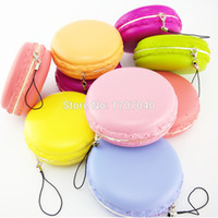 Wholesale Jumbo CM Kawaii Soft Dessert Macaroon Squishy Cute Cell phone Straps Key Chains