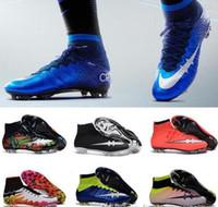 b boy - Men Mercurial Superfly FG CR7 Soccer Shoes Children Soccer Cleats Laser original Kids Boys football boots women Girls Football Shoes
