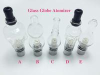 Precio de Hierbas vaporizador globo-5 Estilo Globo de cristal Globo de cristal del atomizador del tanque de cera y de la hierba vaporizador de doble bobina de reemplazo de cerámica algodón Bobinas Cera de cristal Aomizer