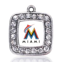 antique jewelry miami - NEW Baseball Miami Marlins SPORT team charm antique silver plated crystal jewelry