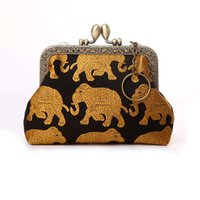 animal print purses and wallets - Animal Print Coin Purse for Girls Elephant Patten Short Square European and American Style Mini Coin Bags