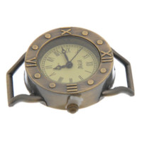 Wholesale 2015 Fashion PC Round Vine Quartz Watch Face Bronze Tone Roman Numbers For Jewelry Making x29x8 mm
