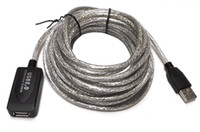 usb active extension cable - 25 Ft USB Active Repeater Male to Female Extension Cable Adapter Cord New