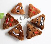 big poo - New style cm Emoji Stuffed Animals Keychain emoji Poo Plush Toys keyring With steel ring for Mobile Pendant HHA945
